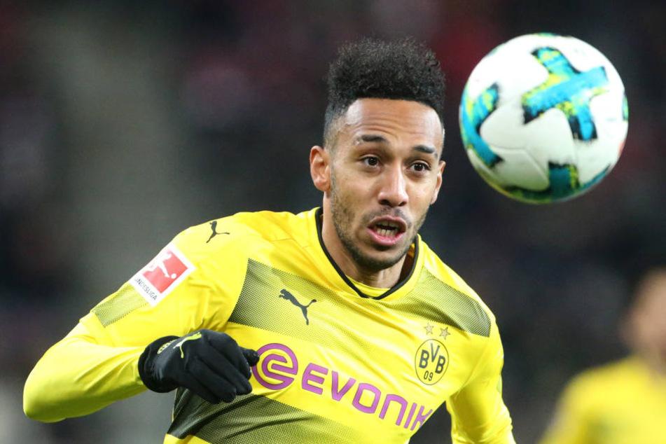 Pierre-Emerick Aubameyang ist nach Robert Lewandowski der zweitbeste Torschütze der Bundesliga mit bislang 13 Treffern in 15 Spielen.