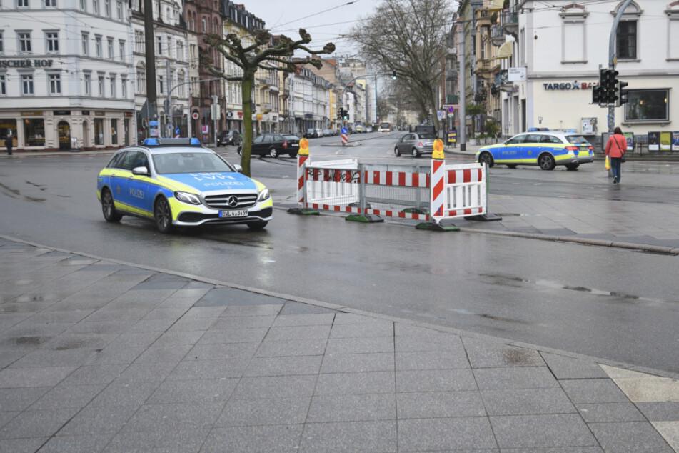 Die Mannheimer Polizei war am Samstag vermehrt auf Streife.