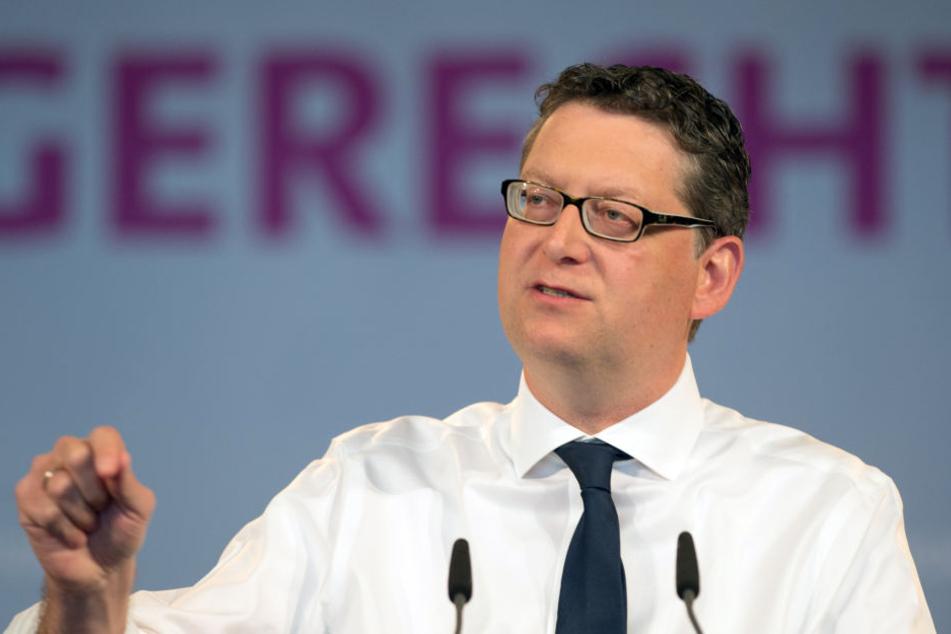 SPD-Bundesvize Thorsten Schäfer-Gümbel sprach sich unter anderem klar für Andrea Nahles als neue Parteivorsitzende aus.