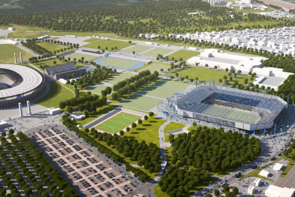 Hier könnte nach einem Entwurf das neue Hertha-Stadion entstehen.