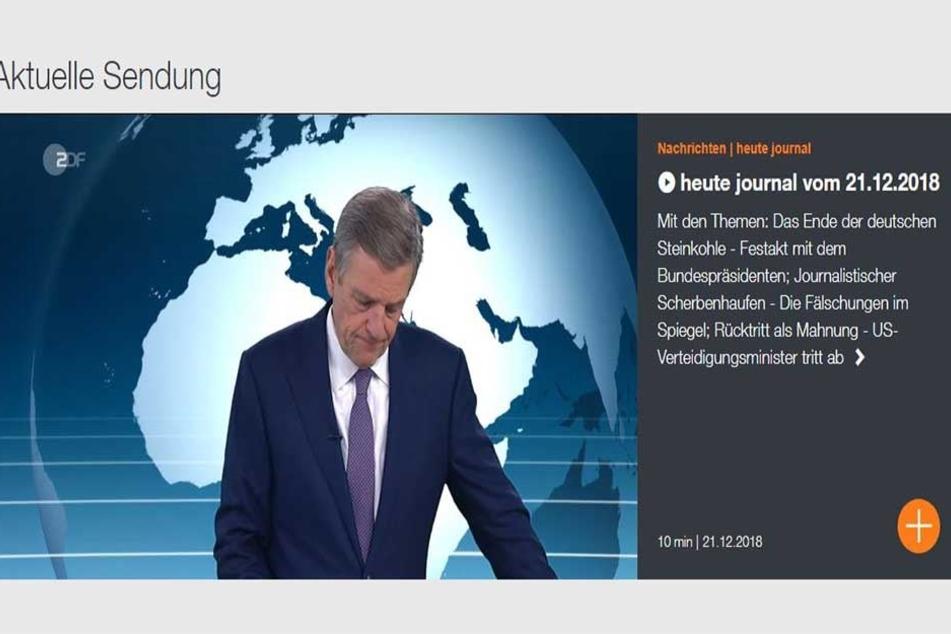 """Der 55-Jährige moderiert seit 2003 das """"heute-journal"""" im ZDF."""