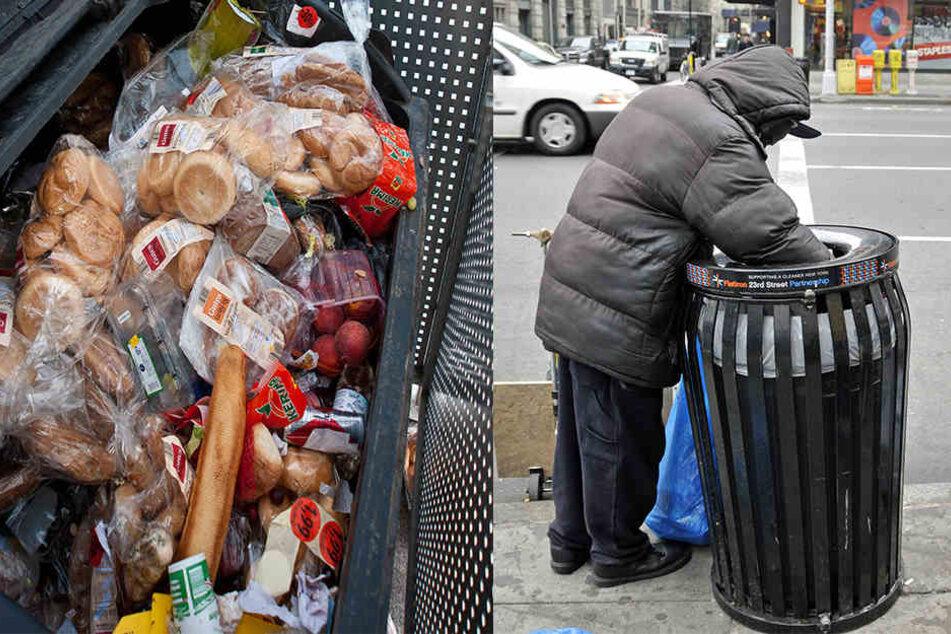 Rentner sucht im Müll nach Essen und wird deswegen verklagt