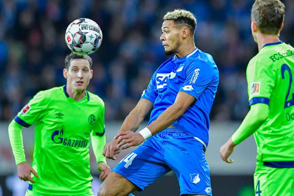 Auch Hoffenheims Sturmkante Joelinton (M.) hatte einige gute Chancen.