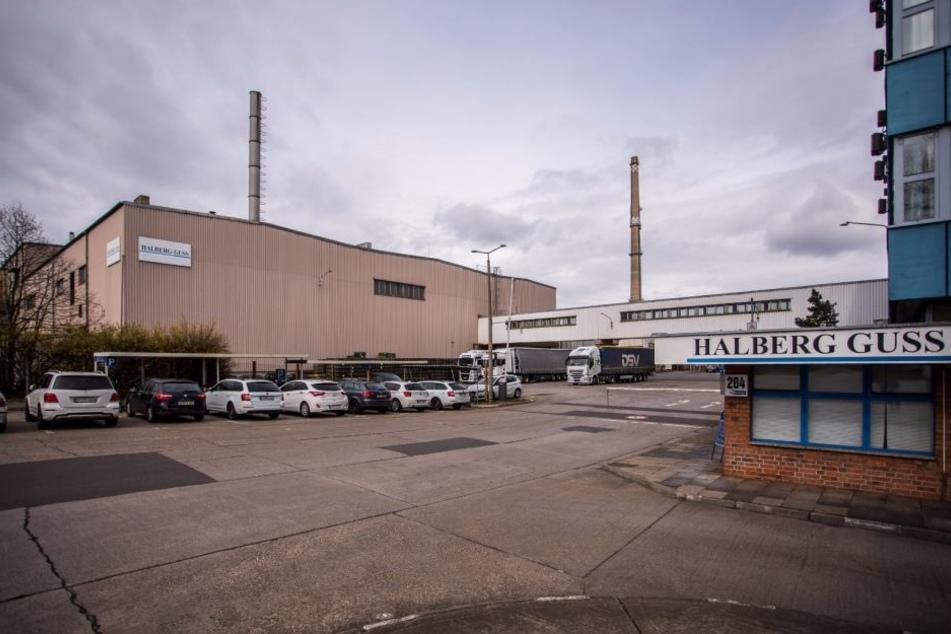 Die Leipziger Gießerei Halberg Guss - am Sonntag kam hier ein Schlosser durch mehrere Stromschläge ums Leben.