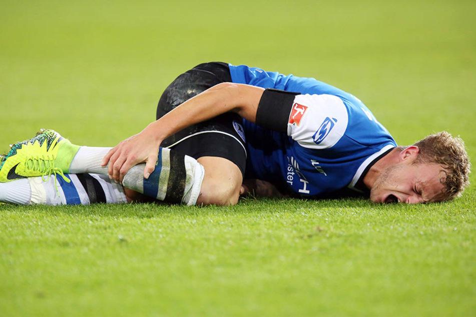 Christoph Hemlein ist einer der Spieler, der immer wieder aufsteht und kämpft.