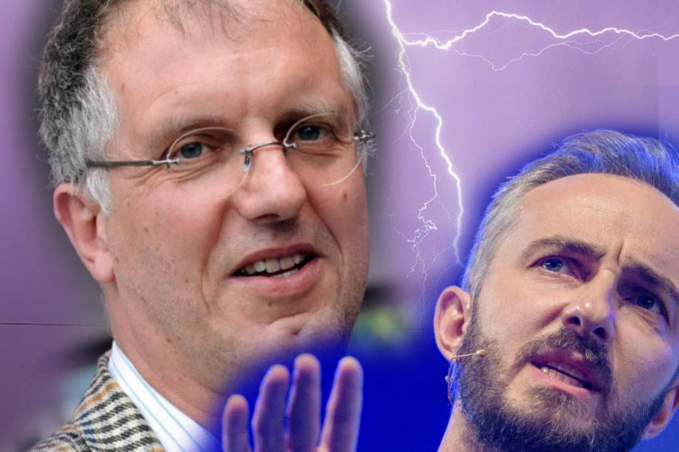 Hochstapler Gert Postel (60) und Komödiant Jan Böhmermann (37) mögen sich nicht. (Fotomontage)