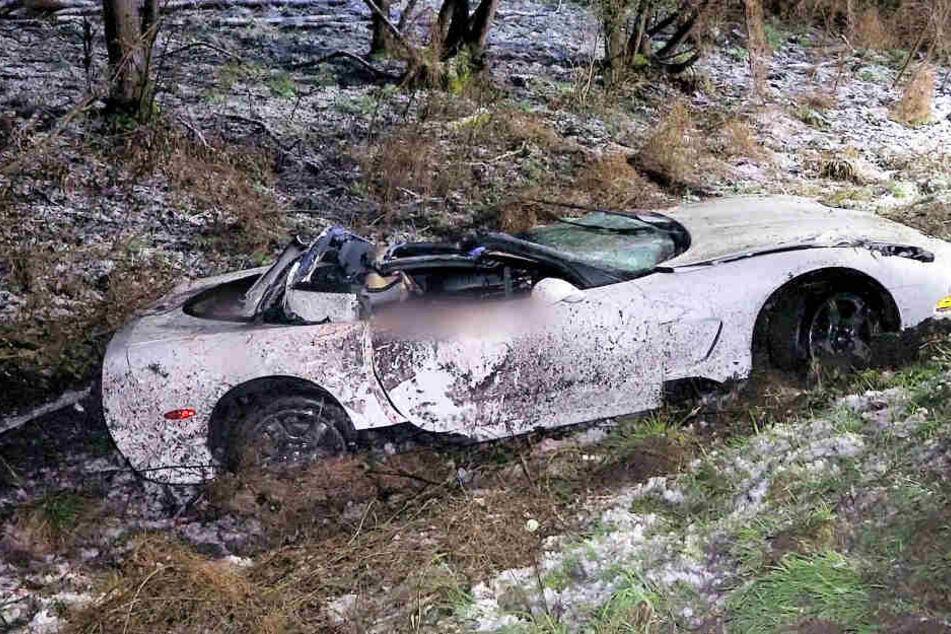 Mann schrottet frisch importierte Corvette bei A67-Unfall und wird schwer verletzt