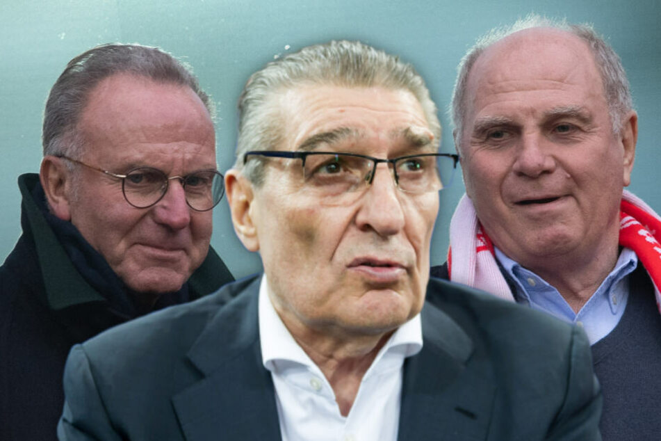 Uli Hoeneß (r) und Rudi Assauer (M) haben sich gefetzt, aber immer wieder vertragen. (Bildmontage)