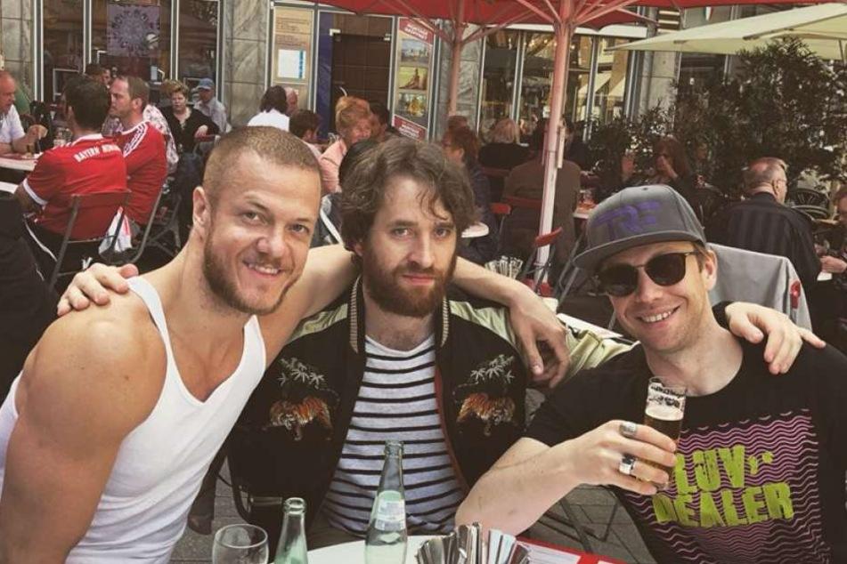 Die Band Imagine Dragons erholte sich in Köln.