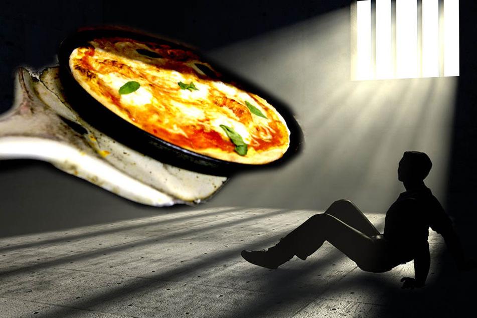 Mit einer Pizza werden Häftlinge belohnt, die 30 Tage nicht vor weiblichen Justiz-Bediensteten masturbieren.