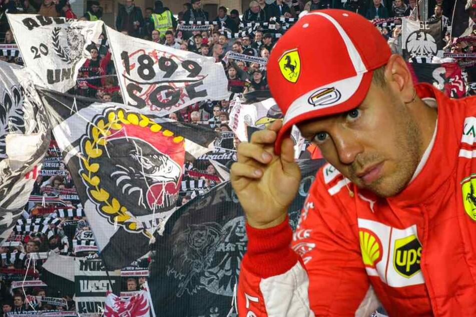 Vettel drückt der Eintracht gegen Inter die Daumen. (Fotomontage/Symbolbild)