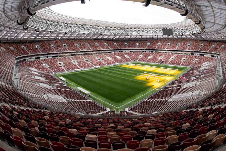 Am 14. Juni beginnt die Fußball-Weltmeisterschaft in Russland. Auf dem Archivbild: das Olympiastadion Luschniki in Moskau.