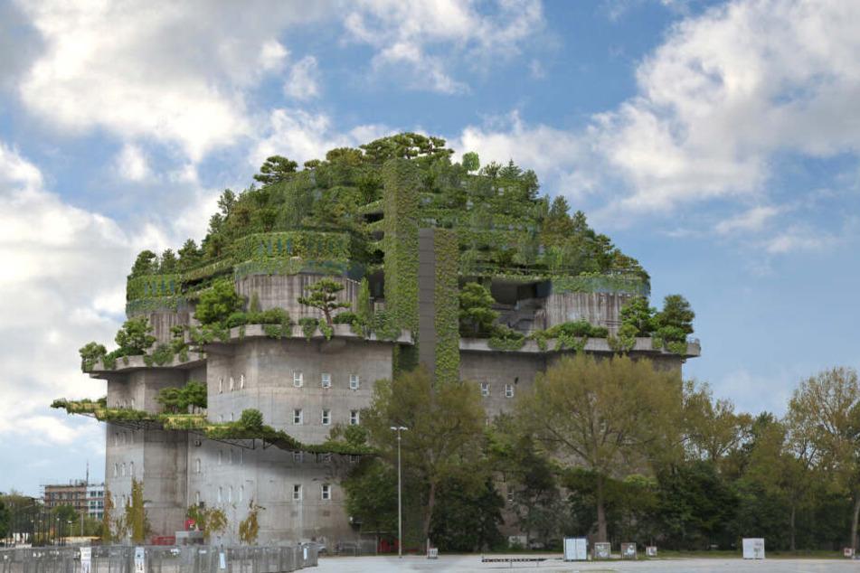 Mit den anstehenden Baumaßnahmen könnte der Bunker am Heligengeistfeld bald so aussehen…