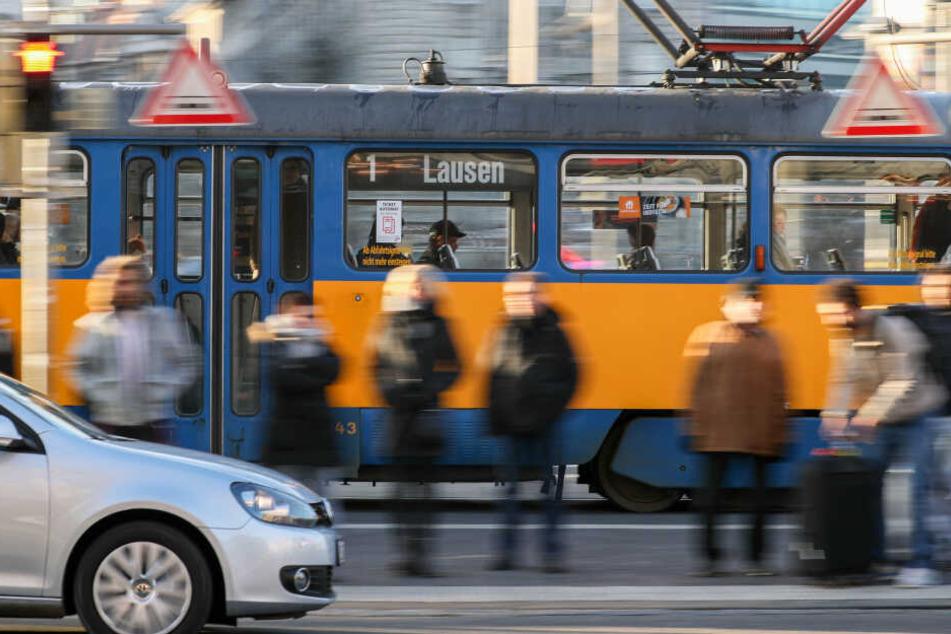 Der Fahrer der Tram konnte nicht mehr rechtzeitig bremsen.