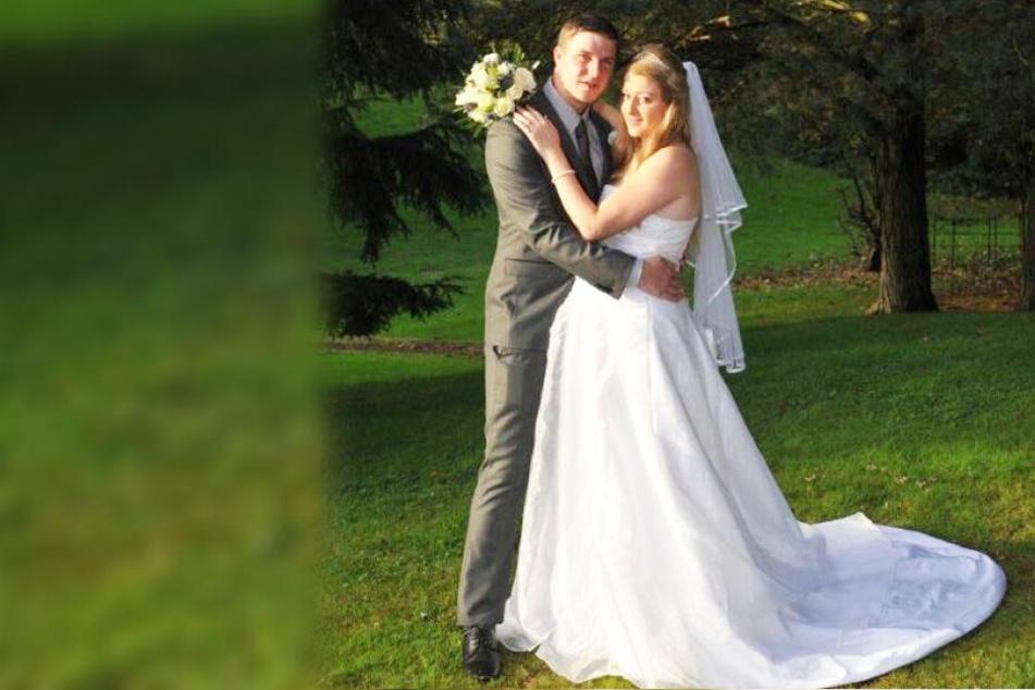 Shaun Dyson und Lucy Rushton bei ihrer Hochzeit im Jahr 2014.