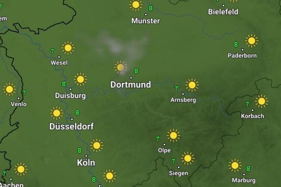 Am Sonntag steigen die Temperaturen in NRW nicht über 10 Grad.