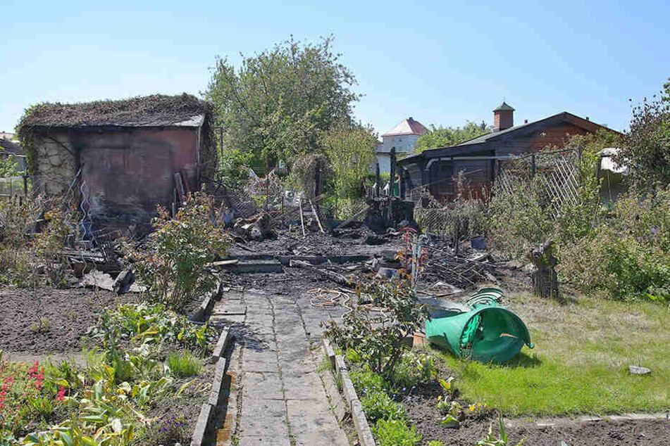 Auch Teile des Kleingartens wurden in Mitleidenschaft gezogen.