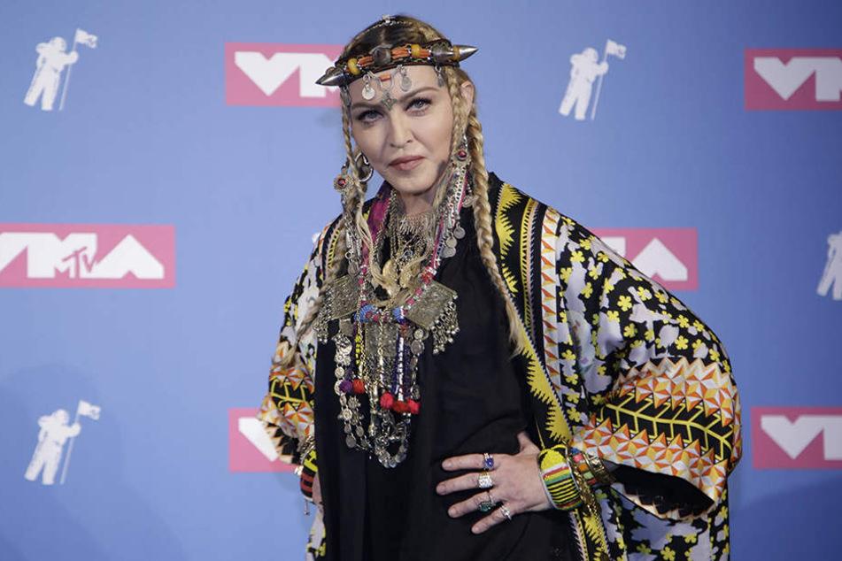 US-Superstar Madonna präsentierte bei den MTV Video Music Awards in New York eine Hommage an Aretha Franklin.
