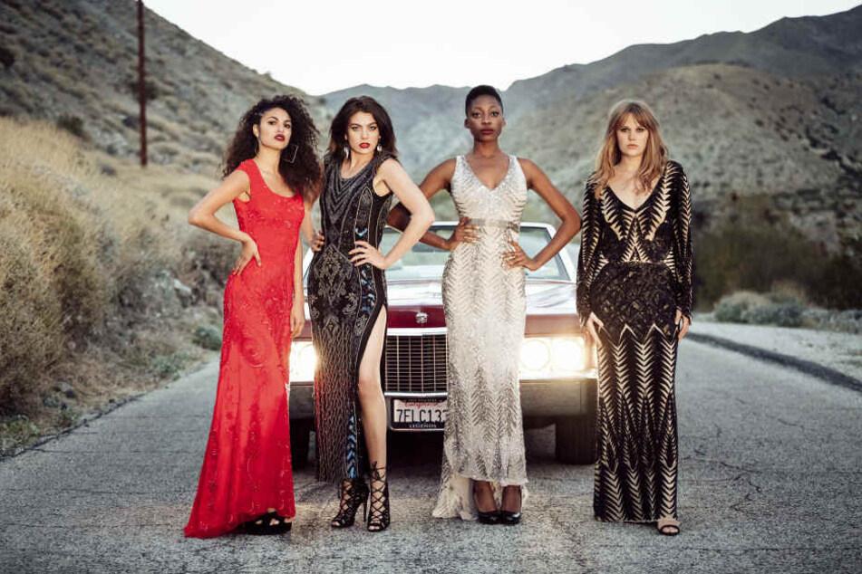"""Sie stehen im großen Finale: von """"Germany's next Topmodel: Julianna (20), Christina (22), Toni (18) und Pia (22)."""