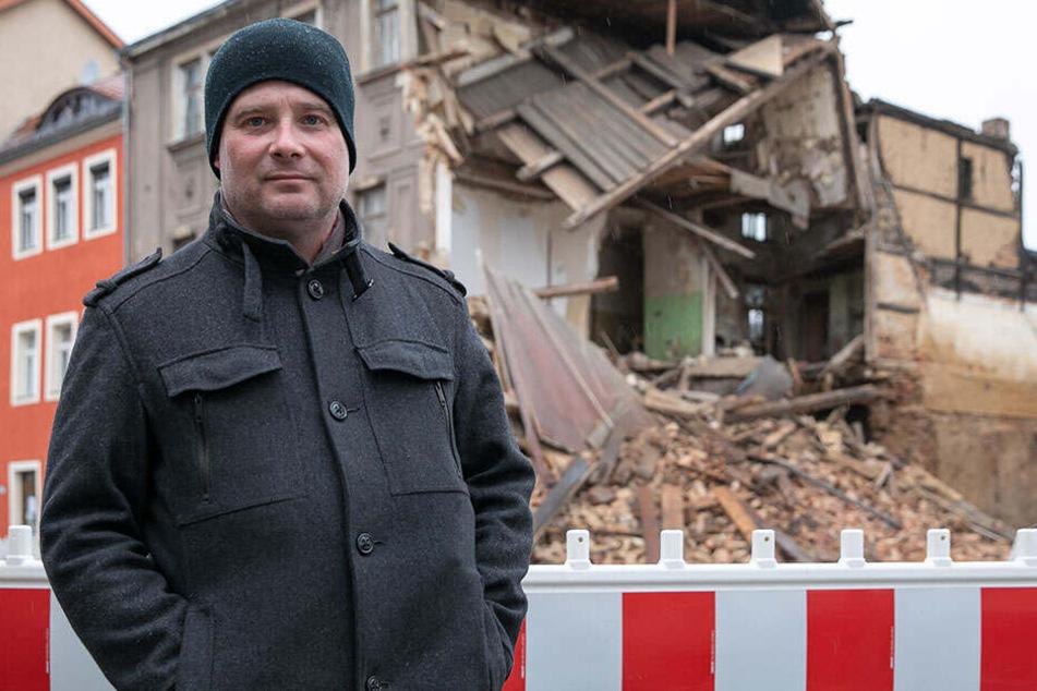 Teamleiter von Budissa Bautzen: Der Sturm hat ein Haus auf mein Auto gekracht