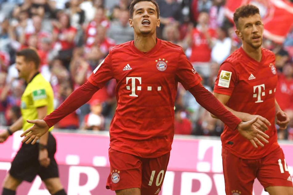 Coutinho (l) und Perisic erhöhten für Bayern auf 4:0.