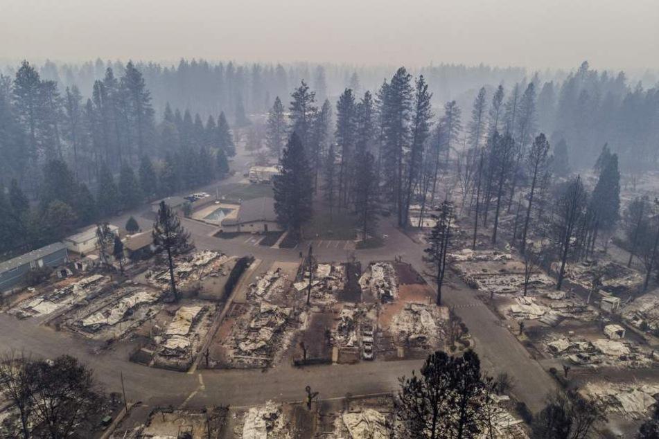 Die tödlichsten Feuer in der Geschichte des Bundesstaats wüten weiter durch Kalifornien.