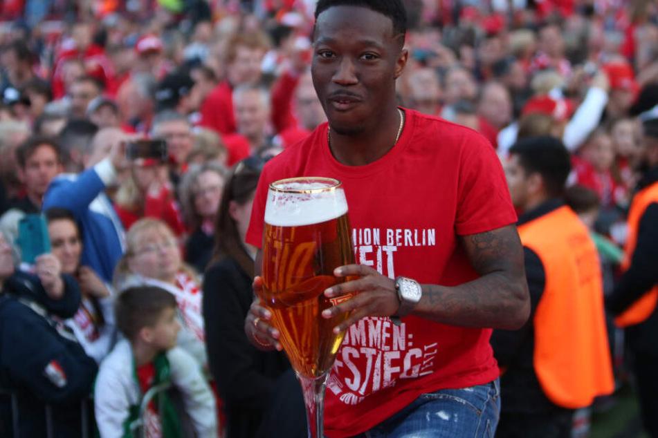 Carlos Mané feierte mit Union Berlin den Aufstieg in die Bundesliga.