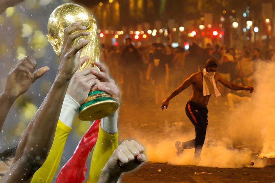 Plünderungen und Schwerverletzte: WM-Feiern in Paris eskalieren