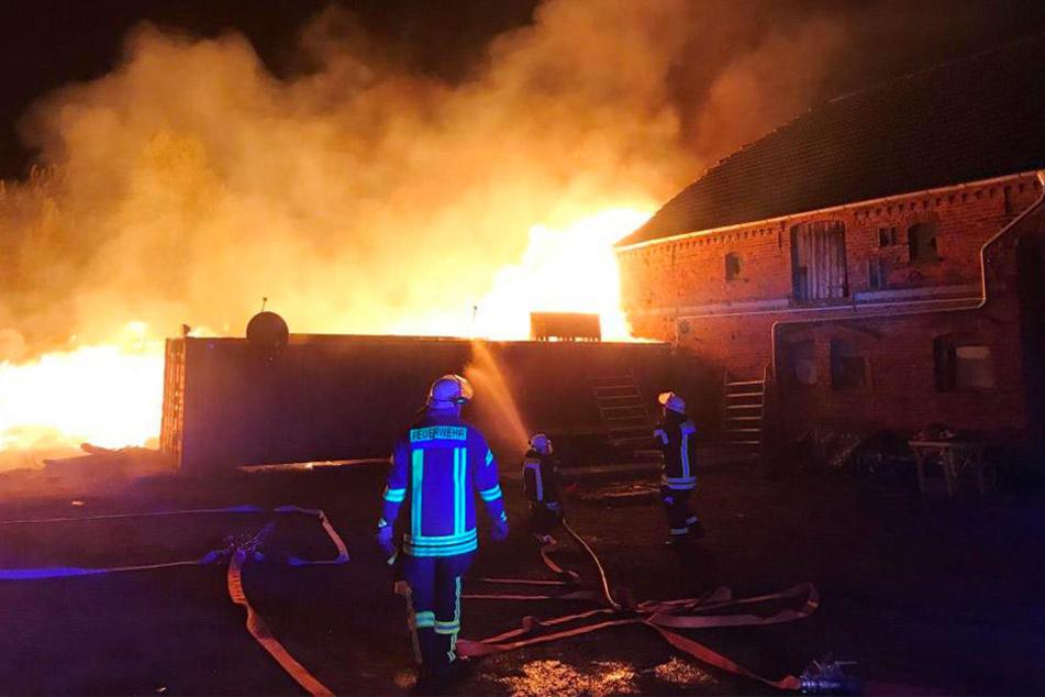 Die Feuerwehr hatte alle Hände voll zu tun, um das außer Kontrolle geratene Osterfeuer zu löschen.