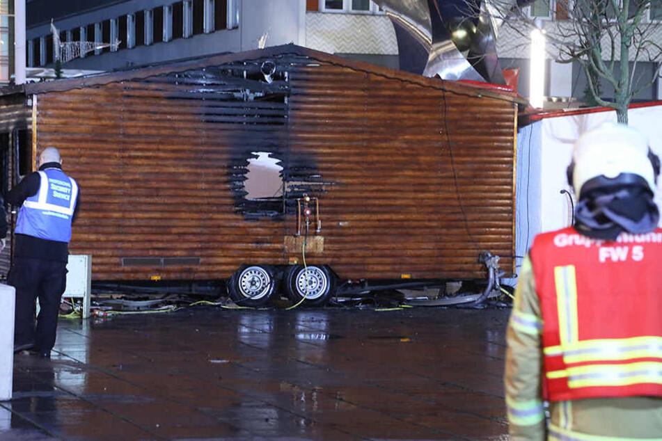 Die Feuerwehr brachte die Flammen relativ zügig unter Kontrolle.