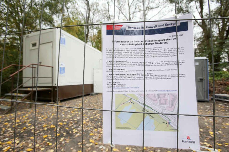 Die Umweltbehörde hat Teile der Boberger Niederung für die Bevölkerung gesperrt.