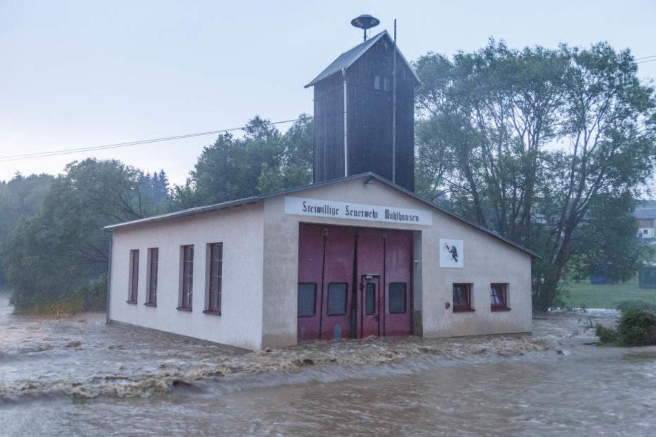 Die Feuerwehr Mühlhausen wurde wiederholt geflutet.