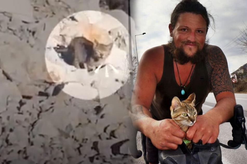 1Bike1World: Insta-Star rettet Katze und radelt nun um die Welt