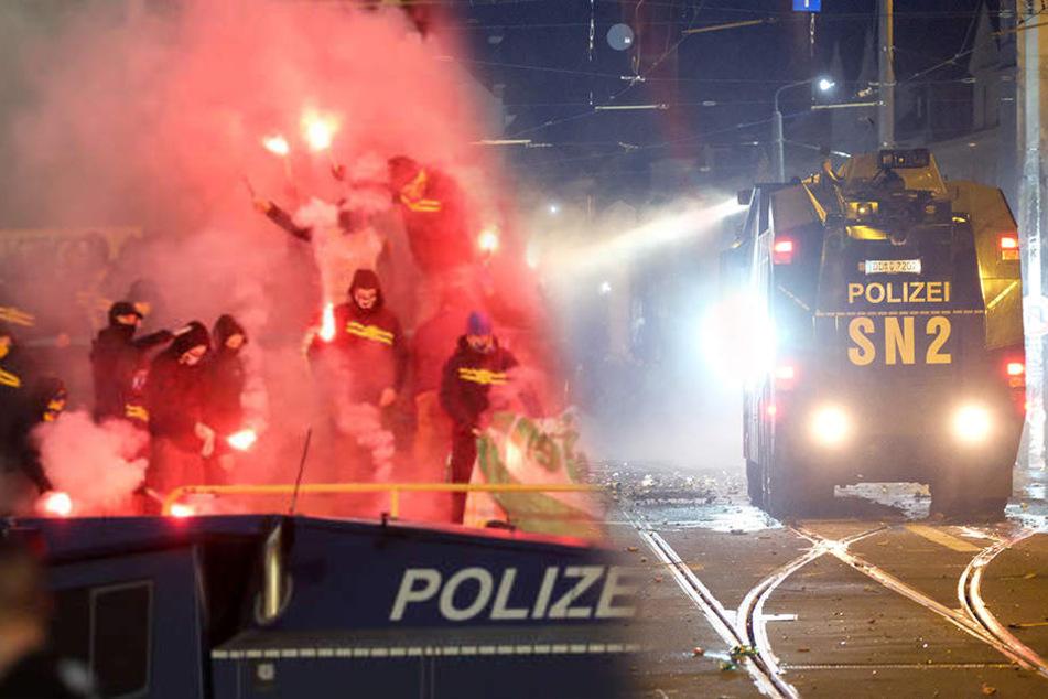 Der Fussballsonntag blieb friedlich in Leipzig. Bilder wie diese blieben der Messestadt bei der Begegnung BSG Chemie gegen Energie Cottbus erspart.