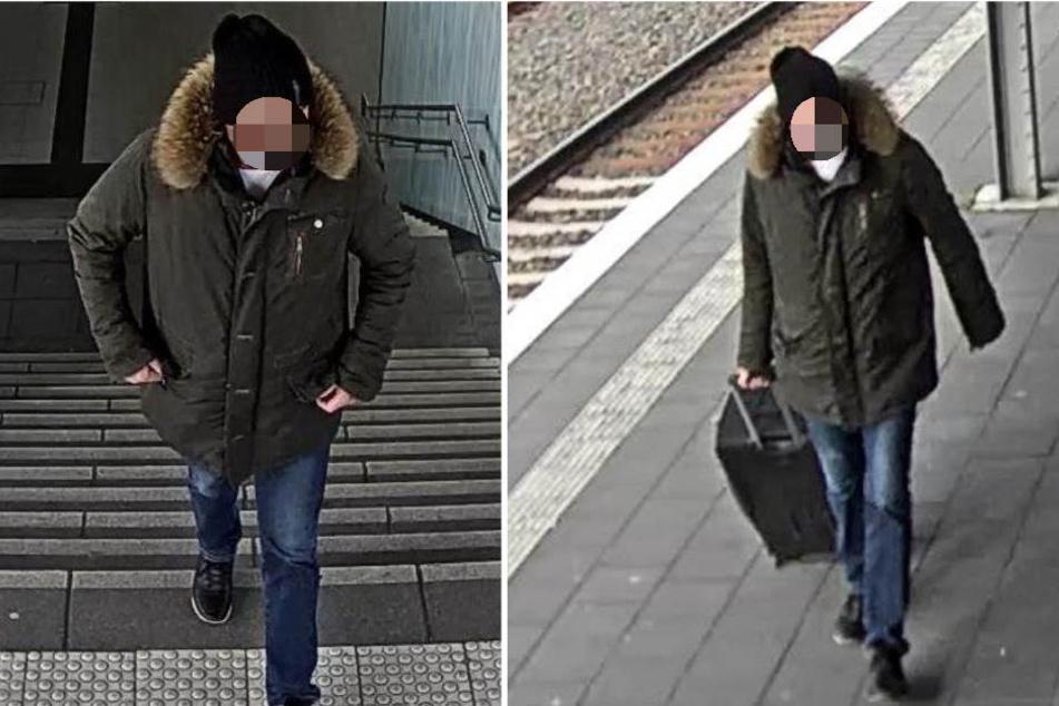 Die Bilder sollen den Tatverdächtigen zeigen. Wer erkennt ihn?