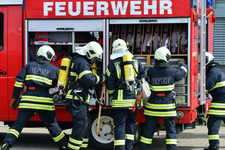 Mit zwei Fahrzeugen und 23 ehrenamtlichen Einsatzkräften führte die Feuerwehr den Einsatz aus, bei dem sie sehr unschön empfangen wurden. (Symbolbild)