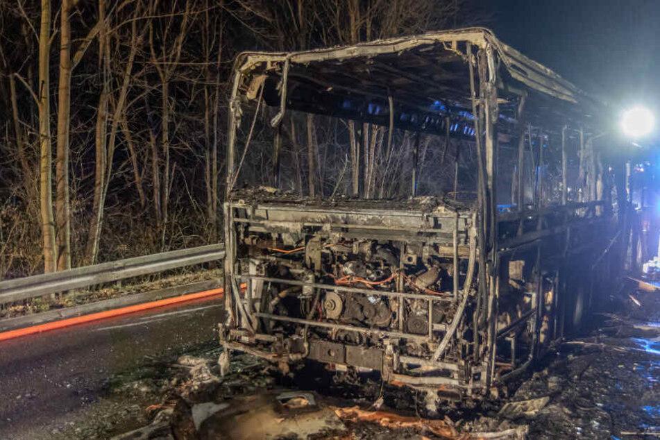 Passagiere an Bord: Plötzlich fängt ein Linienbus Feuer!