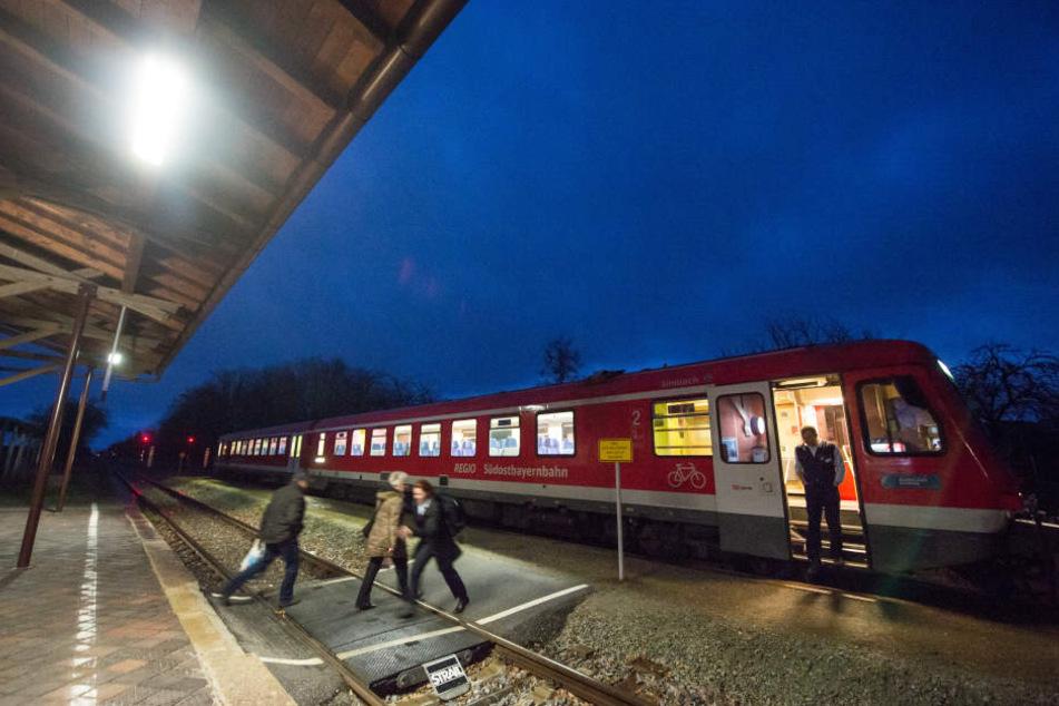 Die Zugbegleiterin und der Lokführer von der HLB wurden von drei Männern geschlagen und im Anschluss mit Steinen beworfen (Symbolbild).