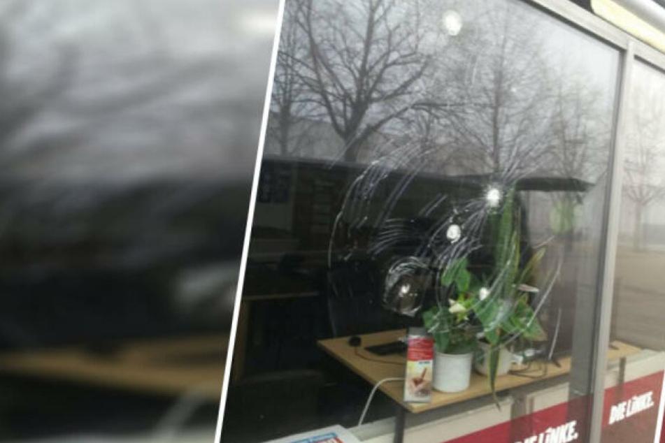 Letztmalig wurden in der Nacht zum 21. Januar Fensterscheiben des Bürgerbüros zerstört.