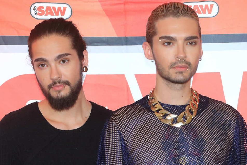 """Die """"Tokio Hotel""""-Zwillinge Tom (l.) und Bill Kaulitz (28) waren gerade für ein Konzert in Berlin."""