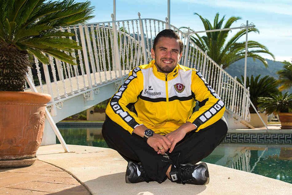 Pascal Testroet fühlte sich mit Dynamo im vergangenen Winter in benahavis im Hinterland von Marbella wohl.