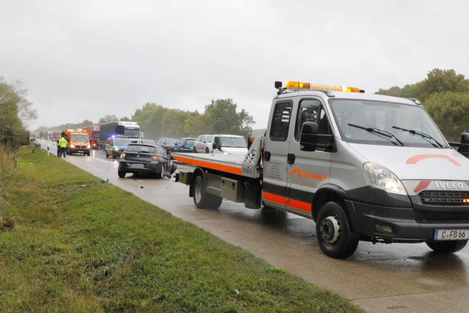 Die A4 in Richtung Dresden musste zeitweise gesperrt werden.