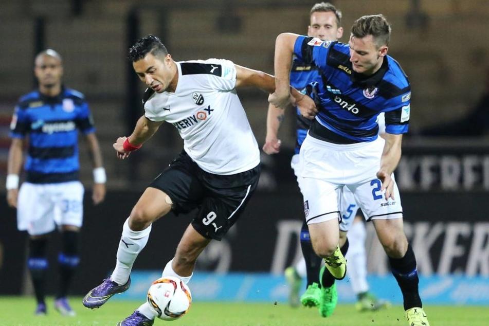 Mit dem FSV Frankfurt stieg Florian Ballas (r.) in der vergangenen Saison aus  der 2. Bundesliga ab.