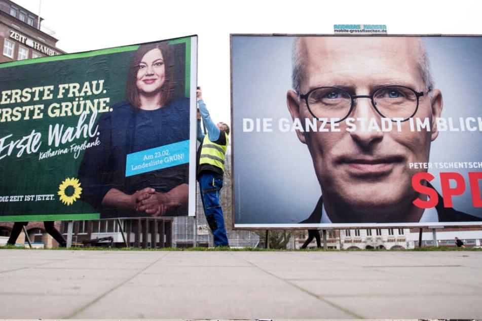 Bürgerschaftswahl in Hamburg: Politiker im Kampfmodus