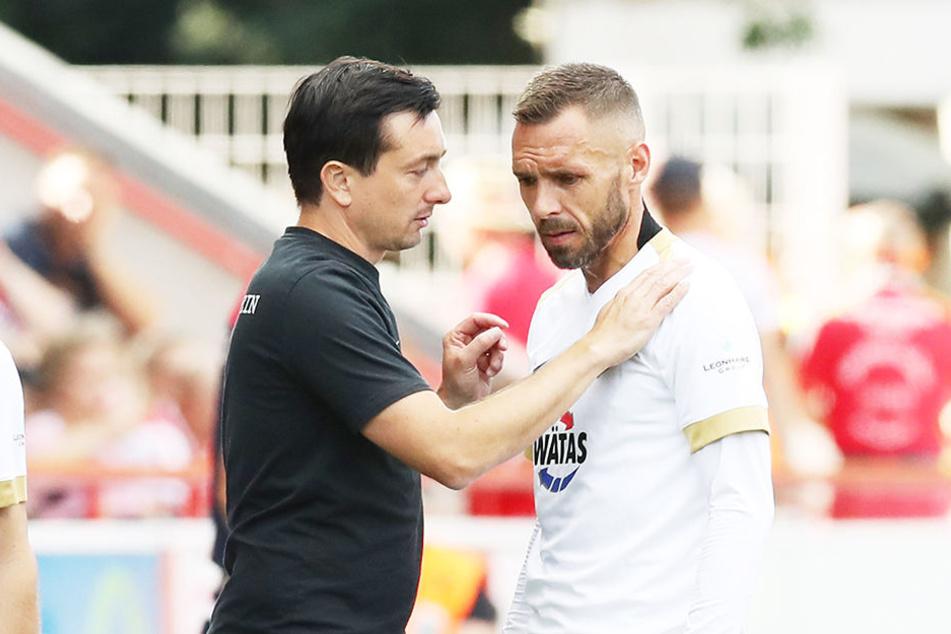 Haben in dieser Woche sicher viel Gesprächsbedarf: FCE-Trainer Daniel Meyer (l.) und sein Abwehrchef Christian Tiffert.