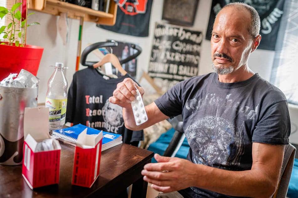 Michael Haun (50) erkrankte 2018 an Tuberkulose. Nach einem halben Jahr in Quarantäne im Küchwaldklinikum ist er seit Februar 2019 wieder zu Hause.