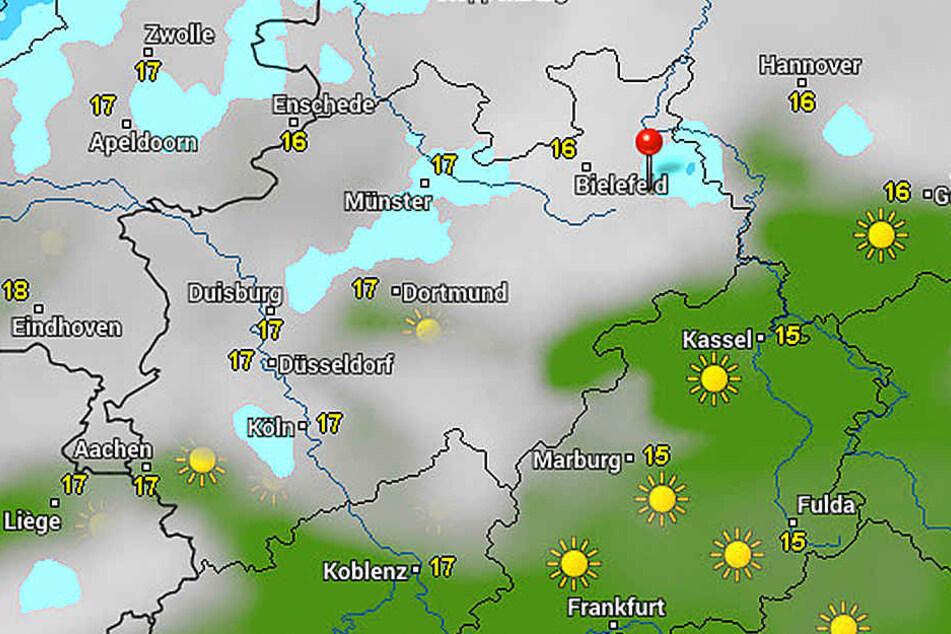 Wolken uns Regen werden auch an diesem Wochenende unser ständiger Begleiter sein.