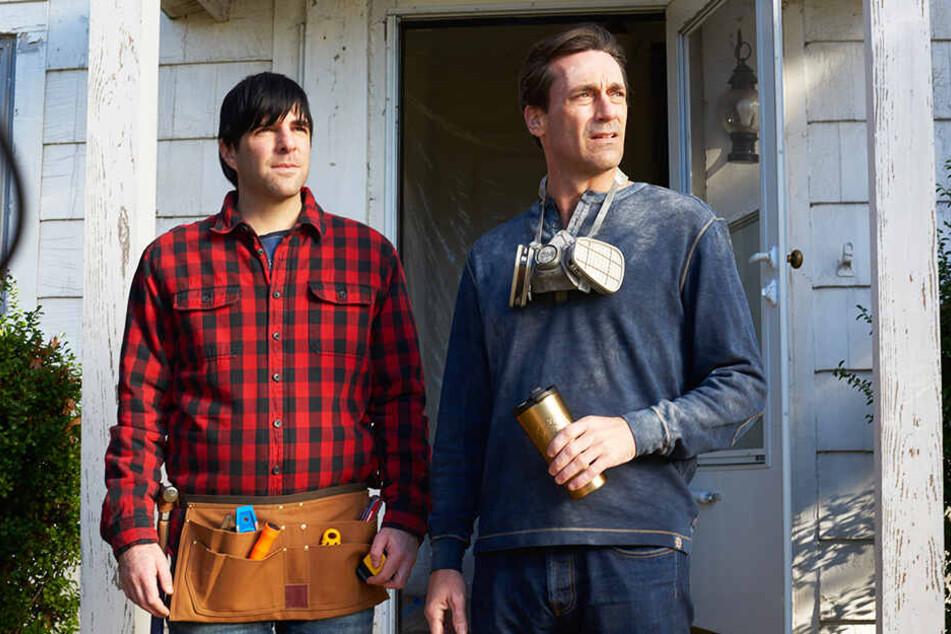 Ist er es wirklich? Josh Norman (l., Zachary Quinto) mit seinem Bruder Craig (Jon Hamm).
