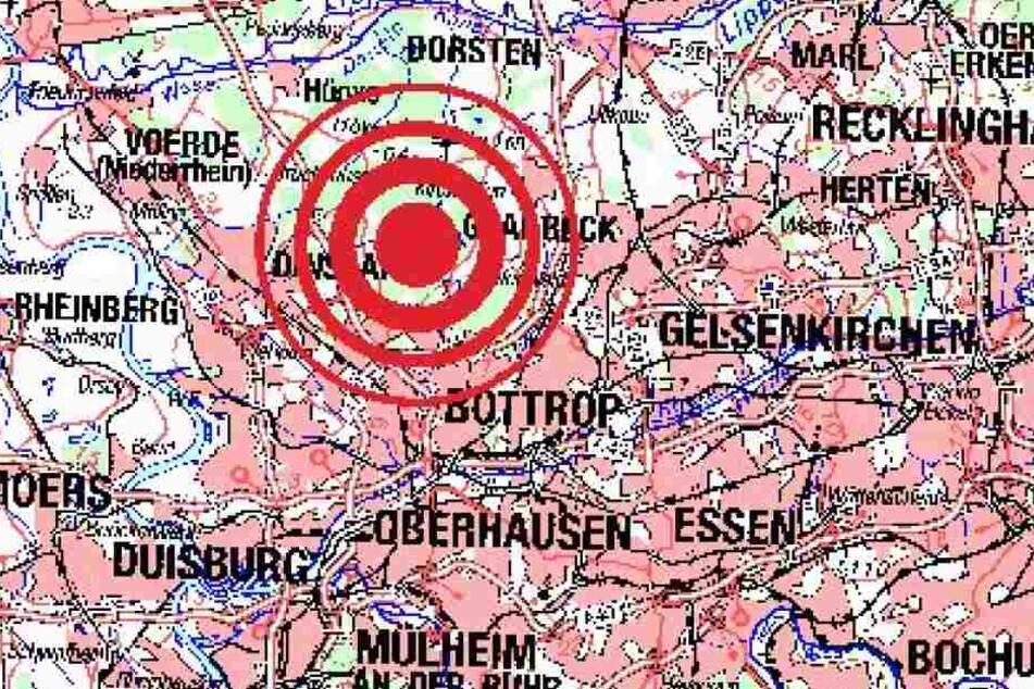 Hier lag das Zentrum des Erdbebens im Ruhrgebiet.