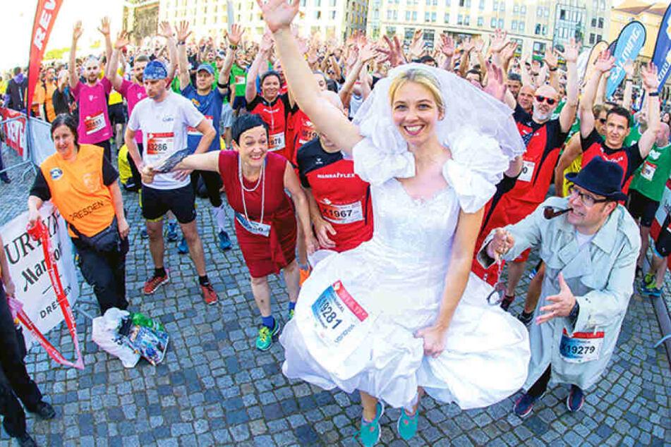 Darum rannte diese Frau im Brautkleid durch Dresden!
